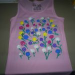Paint Shirt Impressionist Roses Puffy Decorating Ideas