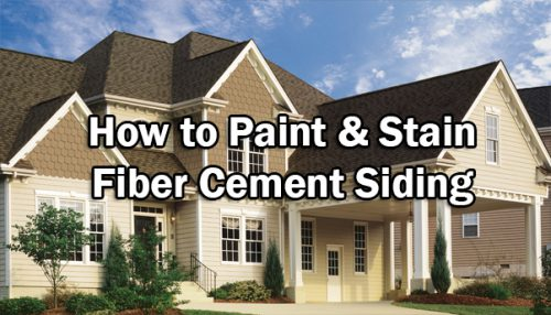Paint Stain Fiber Cement