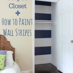 Paint Striped Wall Closet Reveal Help Frogtape