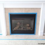 Paint Tile Easy Fireplace Makeover Setting