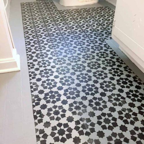 Paint Vinyl Floors Budget Friendly