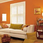 Paint Wall Orange Colors Living Rooms Home