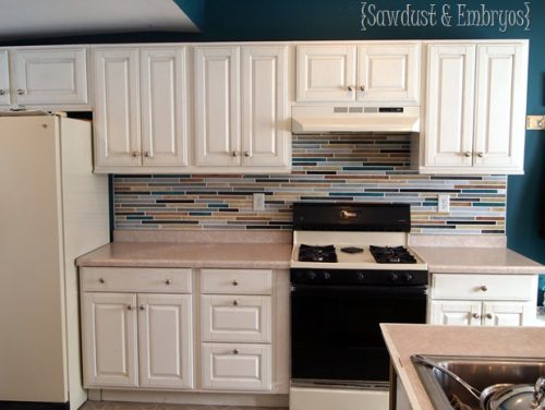 Paint Your Backsplash Sawdust