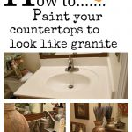 Paint Your Counter Tops Look Like Granite Don Have Pro Poshhome