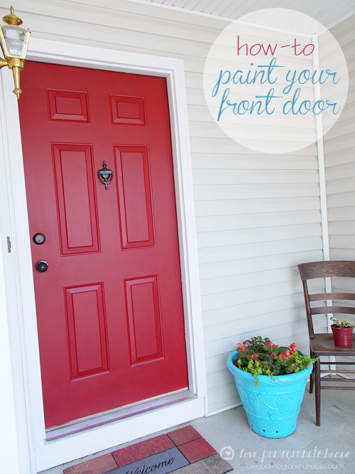 Paint Your Front Door Love Pomegranate