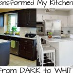 Paint Your Kitchen Cabinets Dark White
