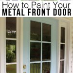 Paint Your Metal Front Door Easy Way Few Simple