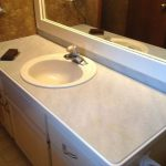 Painted Bathroom Counters