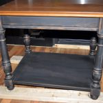 Painted Black Distressed End Tables Alternatively
