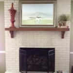 Painted Brick Fireplace Design