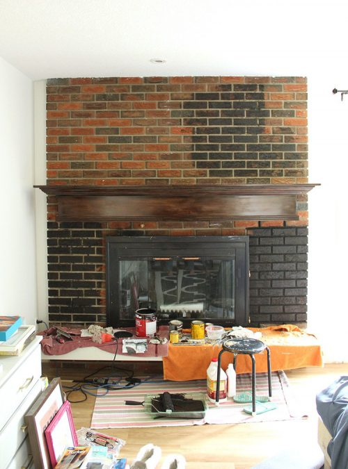Painted Brick Fireplace Fresh