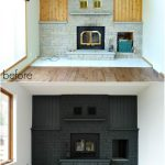 Painted Brick Fireplace Makeover Design