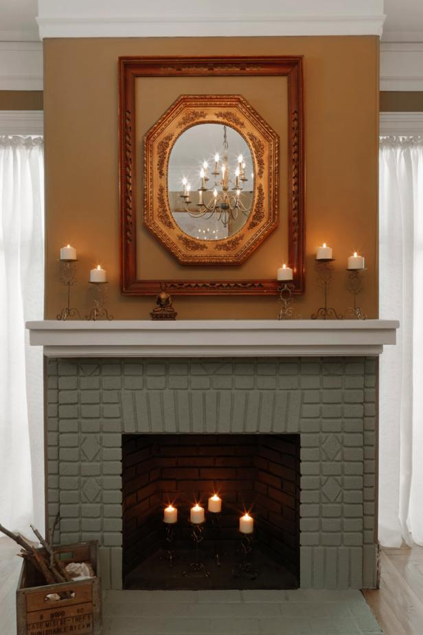 Painted Brick Fireplace Makeover Tos