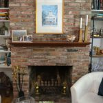 Painted Brick Fireplace White