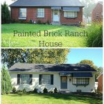 Painted Brick Ranch House Cleverly
