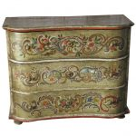 Painted Century Swiss Rococo Commode Sale
