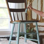 Painted Chair Outdoors Love Grows