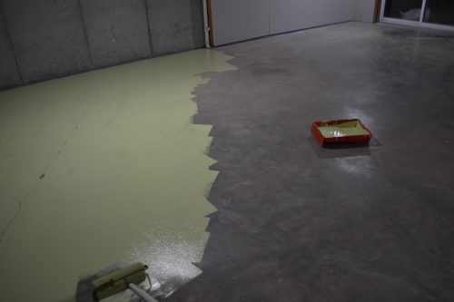 Painted Concrete Floor Sunny