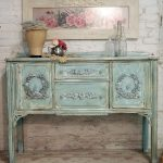 Painted Cottage Chic Shabby Aqua Romantic Buffet