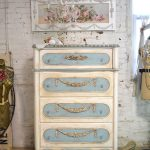 Painted Cottage Chic Shabby Romantic French Chest
