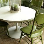 Painted Distressed Green Kitchen Chairs Cate