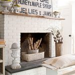Painted Diy Brick Fireplace Makeover Better Homes