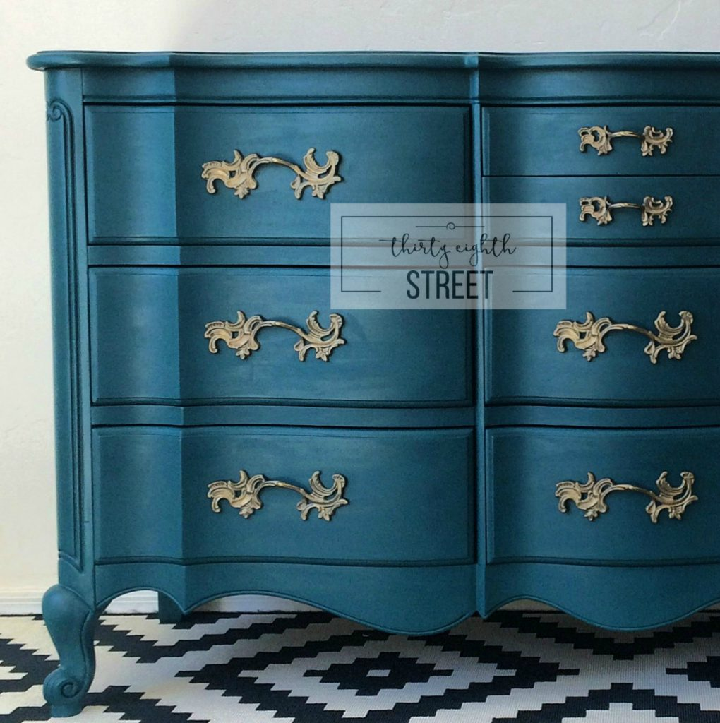Painted Dresser Peacock Blue Thirty Eighth