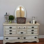 Painted Dresser Using Annie Sloan Chalk Paint Old White Dark
