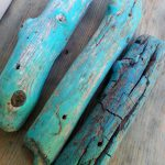 Painted Driftwood Holes
