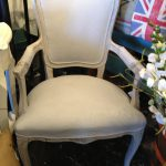 Painted Fabric Chair Chalk Paint Annie