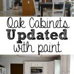Painted Kitchen Cabinets Before After Does She All