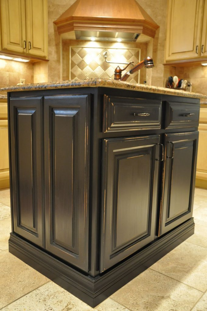 Painted Kitchen Island Reveal Evolution