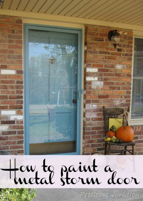 Painted Metal Storm Door Front Home