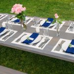 Painted Placemats Picnic Table Makeover Stacy