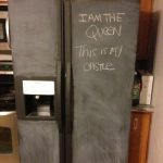 Painted Refrigerator Chalkboard Paint