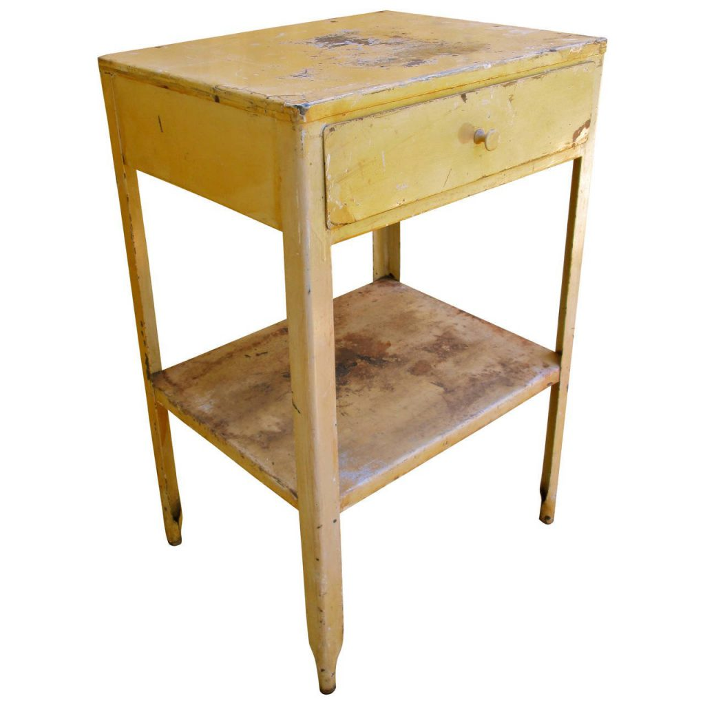 Painted Steel End Table