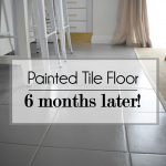 Painted Tile Floor Six Months Later Make Diy Terracotta Kitchen