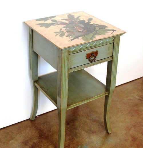 Painted Vintage Side Table Small