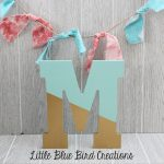 Painted Wood Letters Color Block Paint