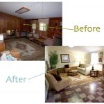 Painted Wood Paneling Before