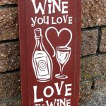 Painted Wooden Sign Love