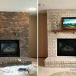 Painting Brick Fireplace