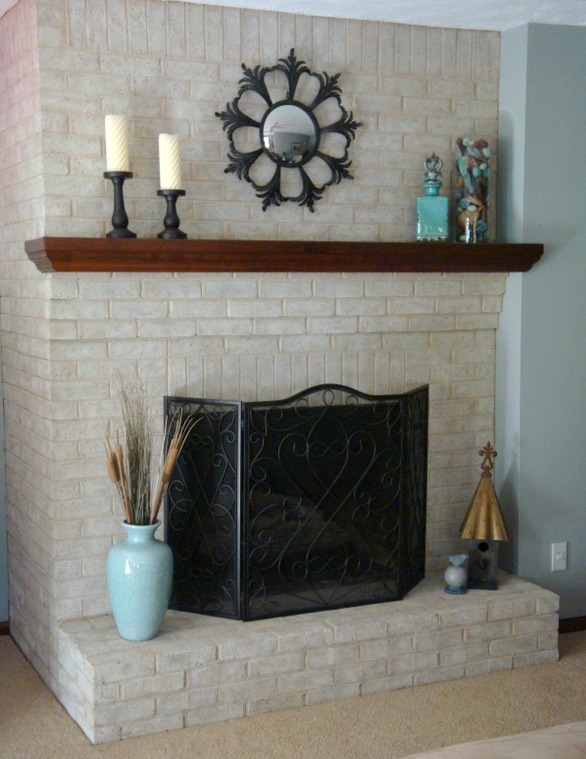 Painting Brick Fireplace Natural Look Feel Anew