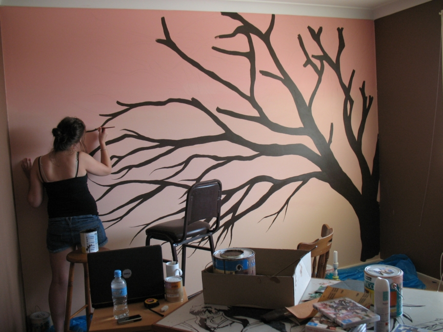 Painting Cherry Blossom Tree Aeriith