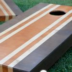 Painting Cornhole Boards Stained Stripes