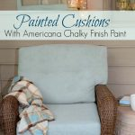 Painting Cushions Chalky Finish Paint All Things Heart