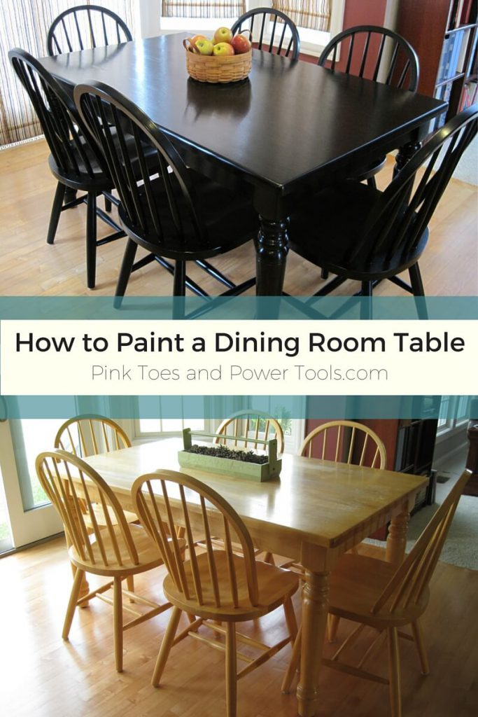 Painting Dining Room Table Post Finished Maybe Pink Toes Power