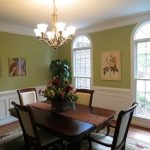 Painting Dining Room Wicker Chairs Chair Rail