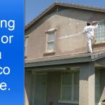 Painting Exterior Two Story Stucco House