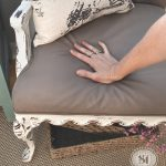 Painting Fabric Chalk Style Paints Granny Chair Makeover Salvaged